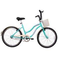 Bicicleta Retro Vintage Aro 26 Feminina Beach Azul Turquesa