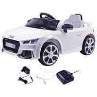 Carrinho Elétrico Audi TT Branco 12 Volts C/ Controle Belfix