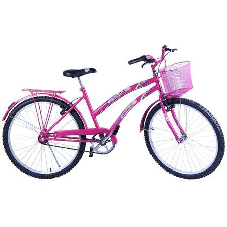 Bicicleta Feminina Aro 26 com cestinha Susi Pink