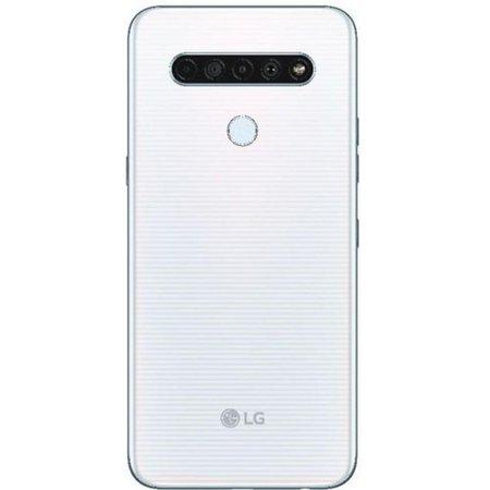 Smartphone LG K61 Dual Tela 6.53` Octa Core 128GB 4G Câmera 48M+W8M+D5M+M2M - Branco