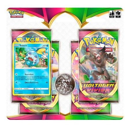 Pokémon Blister Quadruplo Voltagem Vivida Sobble - Copag