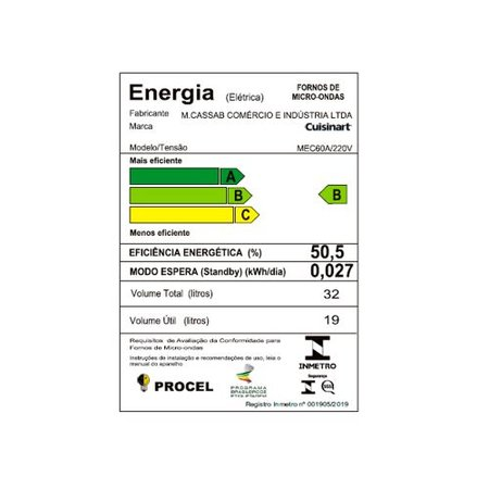 Forno Elétrico Microondas e Grill 31 Litros Casual Cooking 220V Cuisinart