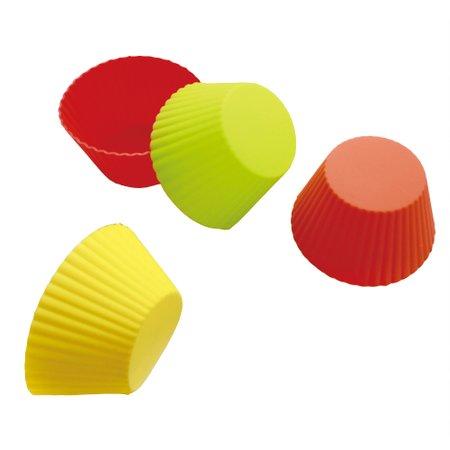 Conjunto de 12 Formas Coloridas para Muffin em Silicone 7cm Kenya