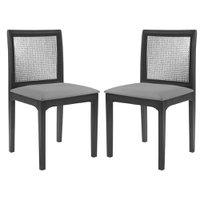 Kit 2 Cadeira Decorativa Sala de Jantar Steve Ébano - Gran Belo