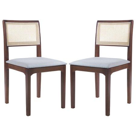 Kit 2 Cadeiras Decorativa Sala de Jantar Nivea Amêndoa - Gran Belo