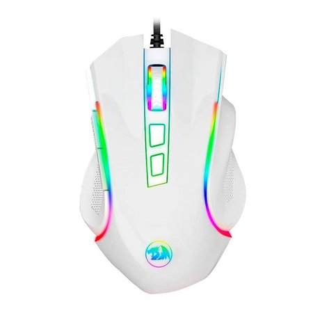 Mouse Gamer Redragon Griffin Lunar White RGB 7200DPI, M607W