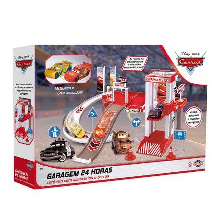 Kit Garagem 24 Horas McQueen e Cruz Carros - Toyng