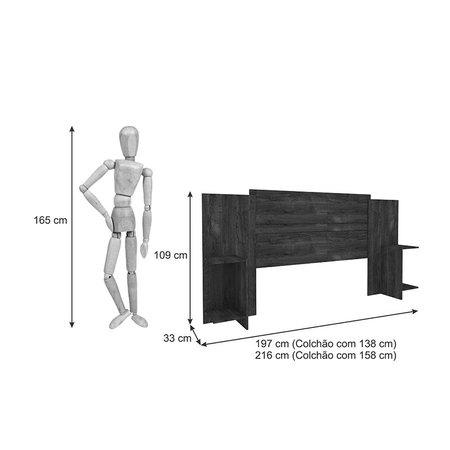 Cabeceira Extensível para Cama Box Casal/Queen Arizona Tcil - Cumaru