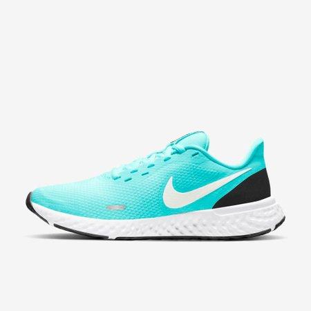 Tênis Nike Revolution 5 (GS) Verde Água V20 BQ3207 301 - Verde Agua - 38