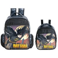 Kit Escolar Mochila 16 + Lancheira Xeryus Batman Gothan Guardian (7592+7594)