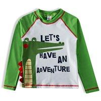 Camiseta Praia ML Jacare Tip Top Verde V21 3725155 - Verde - 08