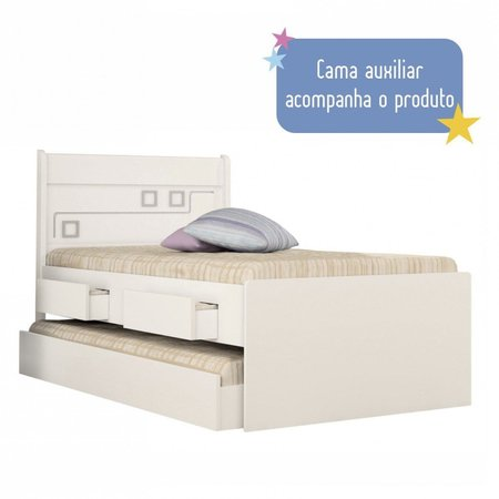 Bicama Infantil 2 Gavetas Bibox Mec Tcil Móveis