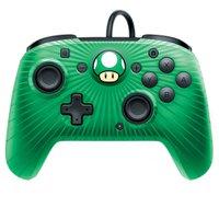 Controle Pro Com Fio Face Off Super Mario para Nintendo Switch Verde - PDP