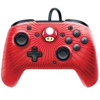 Controle Pro Com Fio Face Off Super Mario para Nintendo Switch Vermelho - PDP