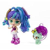 Boneca Curli Girls e Mascote Ballerina - Novabrink