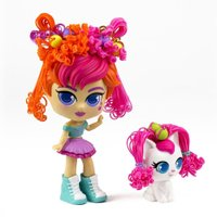 Boneca Curli Girls e Mascote Birthday Girl - Novabrink
