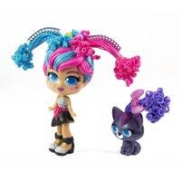 Boneca Curli Girls e Mascote Fashionista - Novabrink