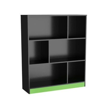Conjunto Gamer Mesa e Estante - Nova Mobile - Preto e Verde