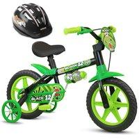 Bicicleta Infantil Masculina  Aro 12  Com Capacete Nathor - Black 12