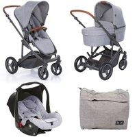 Carrinho de Bebê Travel System Como 4 + Moisés Graphite Grey - ABC Design