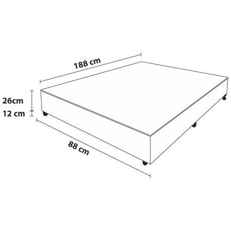 Box Pelmex Chenille Marfim Solteiro -  Marfim