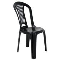 Cadeira Bistrô Tramontina Atlântida em Polipropileno Preto