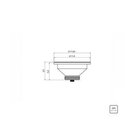 Cuba de Embutir Tramontina Lavínia Perfecta 47 BL em Aço Inox Polido 47 x 30 x 14 cm com Válvula