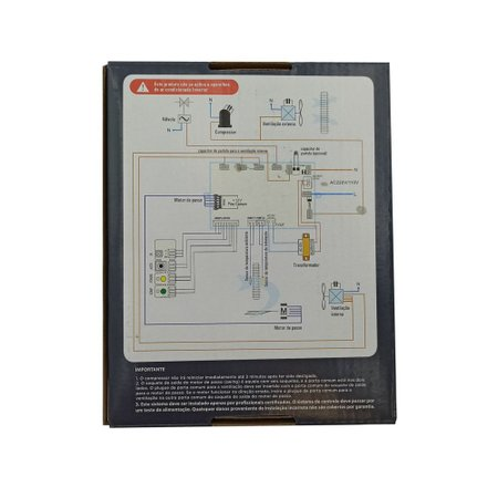 Placa Eletrônica Universal Gallant c/ Controle p/ Ar Condicionado Hi-Wall 220V