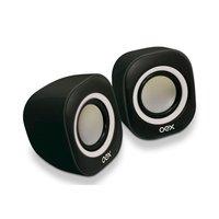 Caixa de Som Mini 2.0 8W Oex Speaker Round SK100 Pt/Br