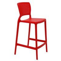Cadeira Tramontina Safira Alta Residência em Polipropileno e Fibra de Vidro Vermelho