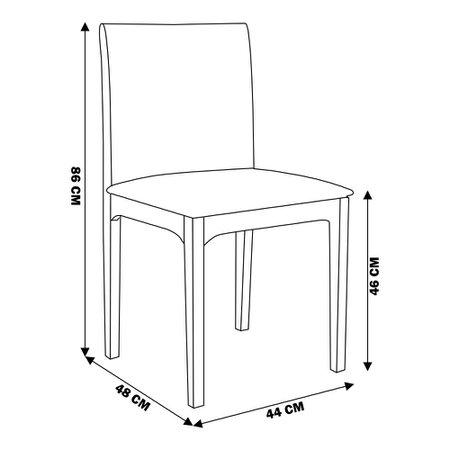 Kit 6 Cadeira Decorativa Sala de Jantar Steve Ébano - Gran Belo