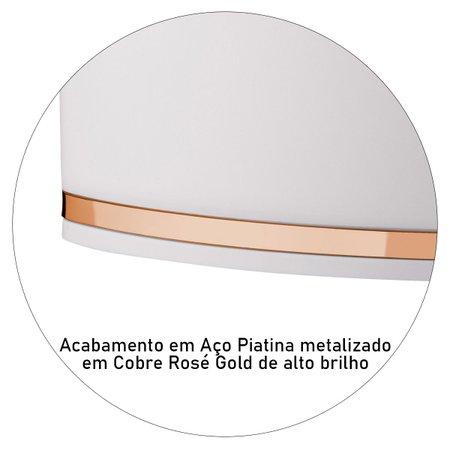 Lixeira de Pia 2,5 Litros Eleganza Detalhe Cobre Rosé Gold Cozinha
