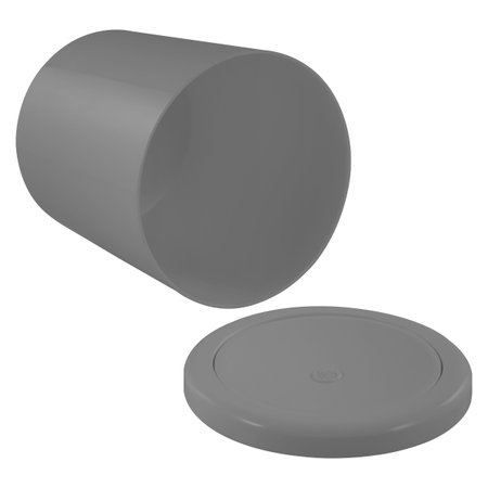 Lixeira 5 Litros Basculante Circular Vai e Vem Cozinha Banheiro