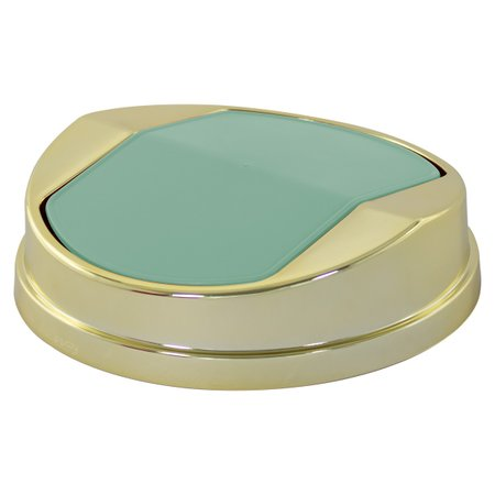 Lixeira Tampa Basculante Dourada 5 litros Cozinha Banheiro Verde