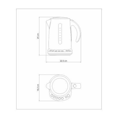 Chaleira Elétrica Tramontina by Breville Smart Vermelha em Aço Inox 5 Temperaturas 1,7 L