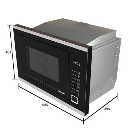 Forno Micro-ondas de Embutir Mueller 25 Litros MMO0225G1 220V