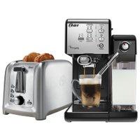 Kit Cafeteira PrimaLatte Black e Torradeira Gourmet Oster 220V