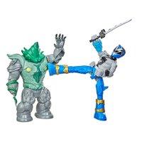 Power Rangers Dino Fury Ranger Azul x Shockhorn - Hasbro