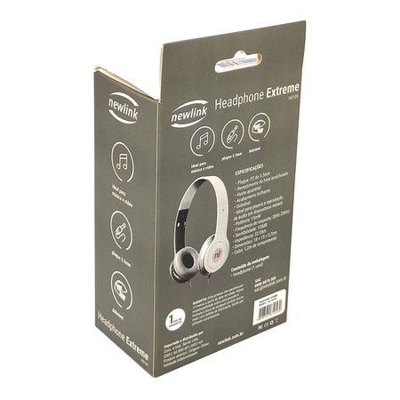 Fone de Ouvido NewLink Extreme HS109, Estéreo 3.5mm, Dobrável, Branco