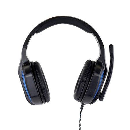 Fone de Ouvido Headset Gamer Sate Preto/Azul AE-361B