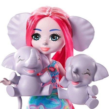 Enchantimals Família Esmeralda Elephant e Graceful - Mattel