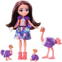 Enchantimals Família Ofelia Ostrich  e Rapid - Mattel