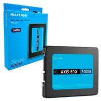 HD SSD 240GB Multilaser Axis 500 SS200, Leitura 500MB/s, Gravação 500MB/s, 2,5, SATA III 6 GB/s