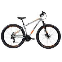 Bicicleta MTB Caloi Two Niner Alloy Aro 29 - Susp Diant - Quadro Alumínio - 21 Vel Prata