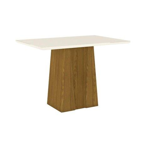 Mesa de Jantar 120cm Orus Móveis Henn Nature/Off White