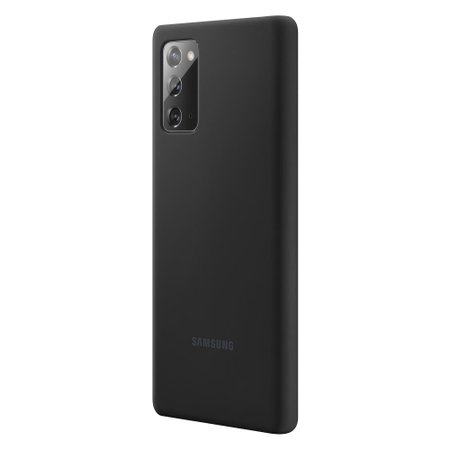 Capa Protetora de Silicone Galaxy Note 20 - Preta Original