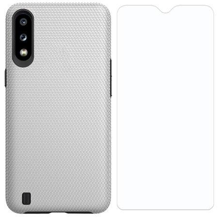 Capa Protetora Antiqueda Y-Cover Triangle Cinza Samsung Galaxy A01 Com Película Protetora