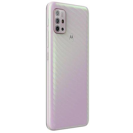 Celular Motorola Moto G10 Branco Floral 64GB Tela 6.5 Camera 48MP 8MP 2MP 2MP