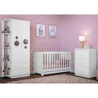 Quarto Infantil Completo Algodão Doce Multimóveis Branco/Colorido