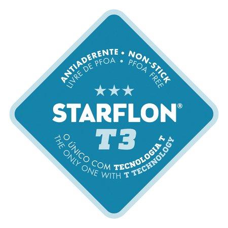 Frigideira Profissional Tramontina em Ferro Fundido Antiaderente Starflon T3 com Cabo em Aço Inox 26 cm 2,1 Litros